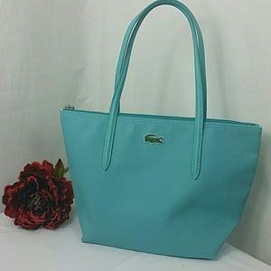 Lacoste zippered shopping tote